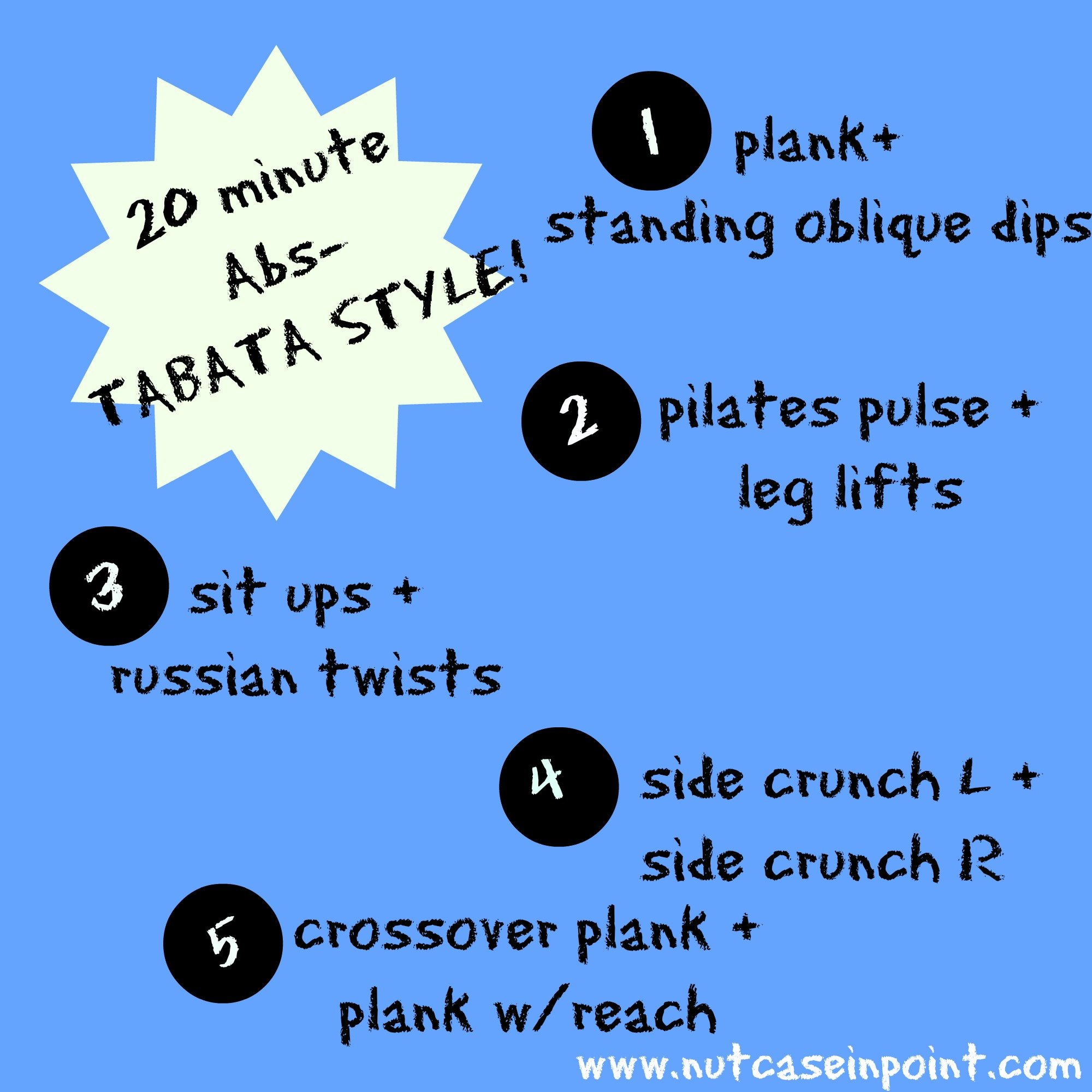 No-Weight Workout + Tabata Abs! | nutcaseinpoint