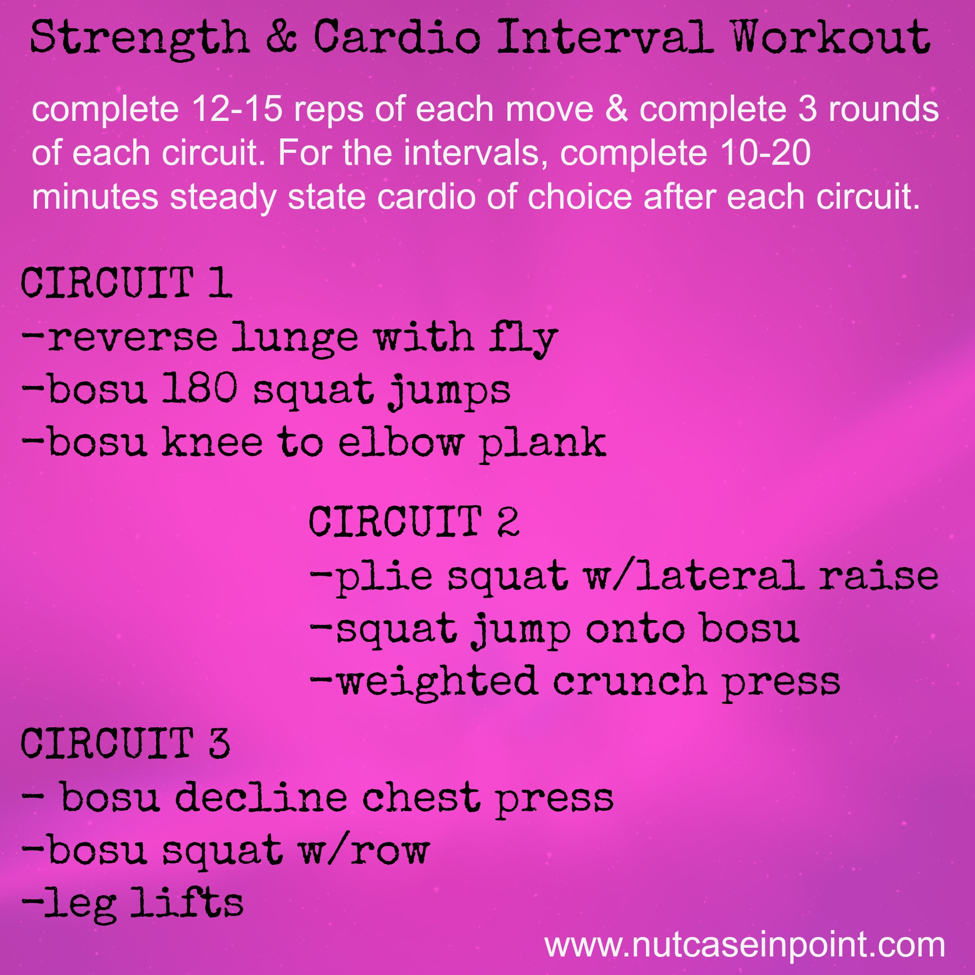 Meal Plan Nutcaseinpoint Superset Style Circuit Bootcamp Workout Ideas Image